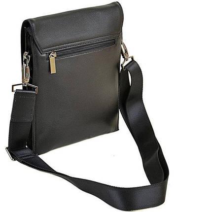 Мужская сумка-планшет Bretton из натуральной кожи черная, фото 2