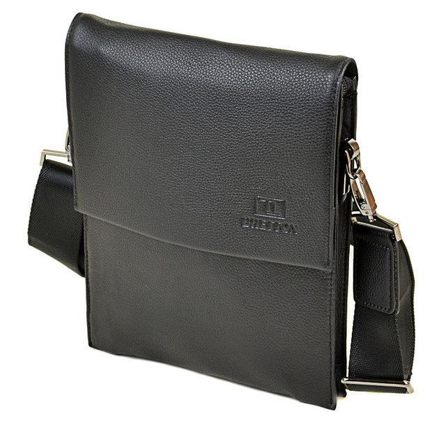 Мужская сумка-планшет Bretton из натуральной кожи черная