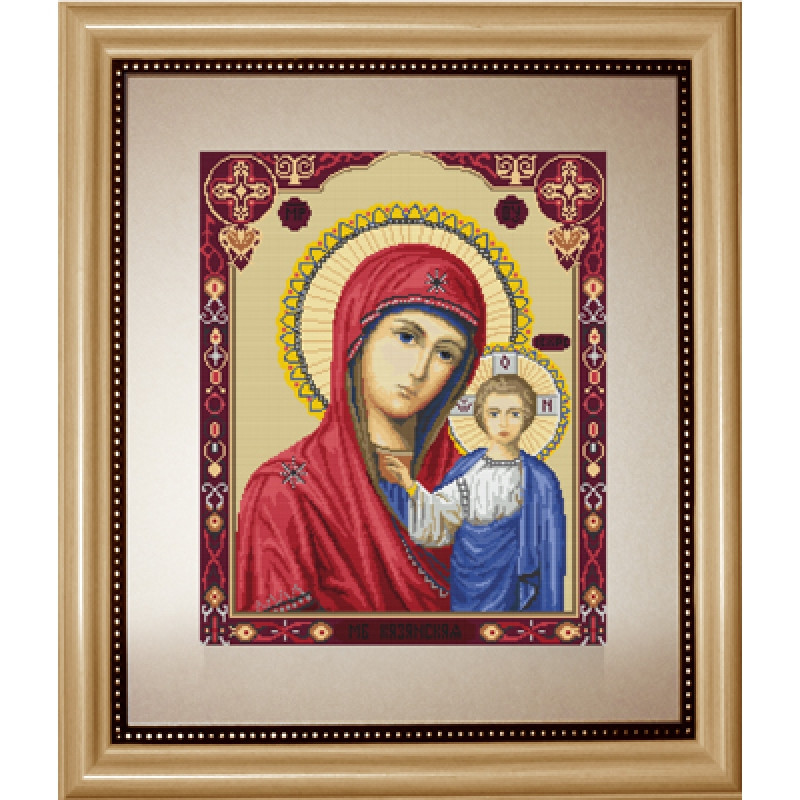 Набор для вышивания крестиком 33,5х27,5см. Казанская Богородица.  Luca-S