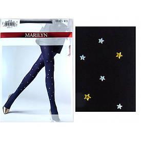 Фантазийные колготки Marilyn BRADS N13 с узором в мелкие звездочки