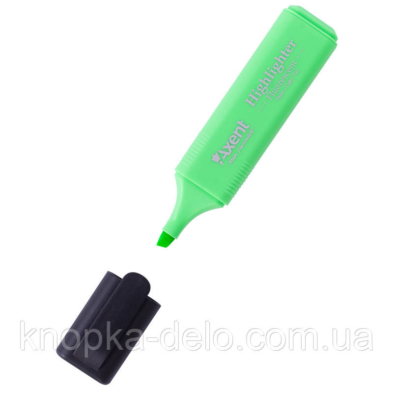 Маркер Axent Highlighter 2531-04-A, 1-5 мм, клиновидный зелёный