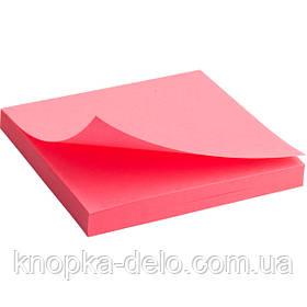 Блок бумаги Axent 2414-13-A с липким слоем, 75x75 мм, 80 листов, неоновый розовый
