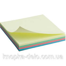 Блок бумаги Axent 2325-01-A с липким слоем 75x75 мм, 100 листов, пастельные цвета