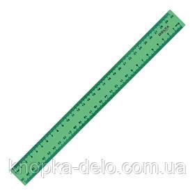 Линейка пластиковая Delta D9800-02 30 см, матовая, зеленая