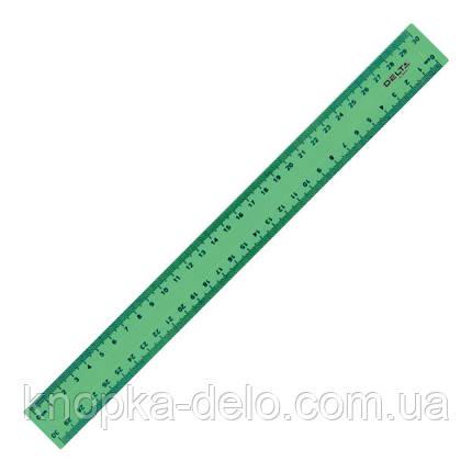 Линейка пластиковая Delta D9800-02 30 см, матовая, зеленая, фото 2