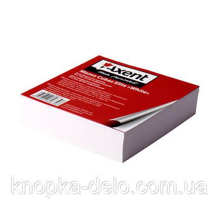 """Бумага Axent Elite """"White"""" 8004-A для заметок, 90х90х20 мм, непроклеенная, фото 2"""