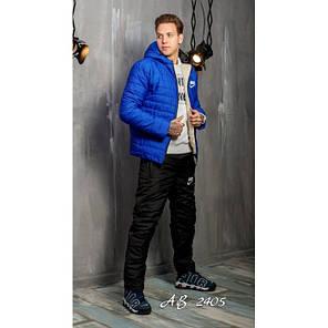 Зимний мужской костюм Nike синий на овчине топ реплика, фото 2