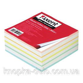 """Бумага Axent  Elite """"Mix"""" 8016-A для заметок цветная, 90х90х40 мм, непроклеенная"""