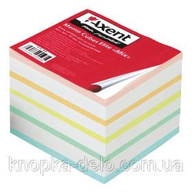"""Бумага Axent  Elite """"Mix"""" 8018-A для заметок цветная, 90х90х70 мм, непроклеенная"""