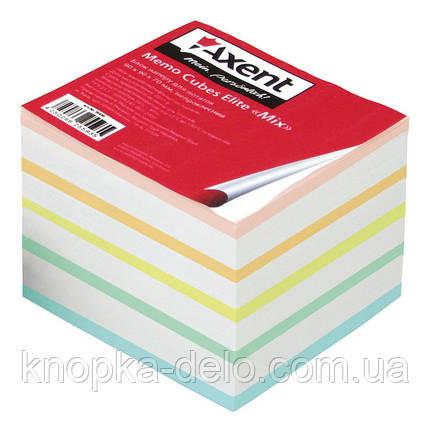 """Бумага Axent  Elite """"Mix"""" 8018-A для заметок цветная, 90х90х70 мм, непроклеенная, фото 2"""