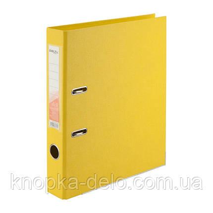 Папка-реєстратор Delta D1711-08P двостороння, PP, 5 см, розібрана, жовтий, фото 2