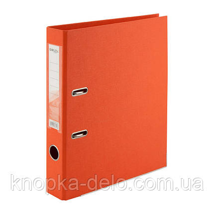 Папка-реєстратор Delta D1711-09P двостороння, PP, 5 см, розібрана, помаранчева, фото 2
