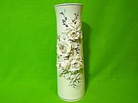 Керамическая настольная ваза «Элита» лепка с росписью
