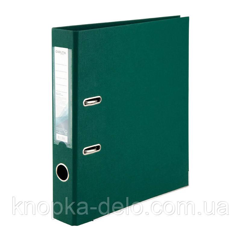 Папка-регистратор Delta D1711-23P двусторонняя, PP, 5 см, разобранная, темно-зеленая