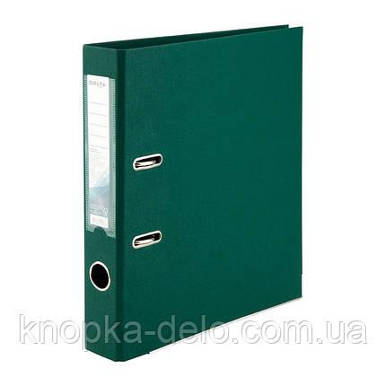 Папка-регистратор Delta D1711-23P двусторонняя, PP, 5 см, разобранная, темно-зеленая, фото 2
