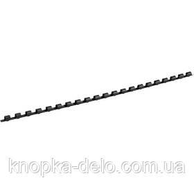 Пружина пластиковая Axent 2906-01-A 6 мм, черная, 100 штук