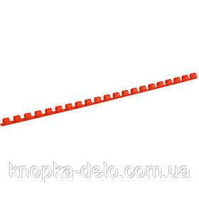 Пружина пластиковая Axent 2908-06-A 8 мм, красная, 100 штук