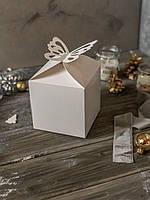 Коробка для подарка 12см х 12см х 12см, Белый