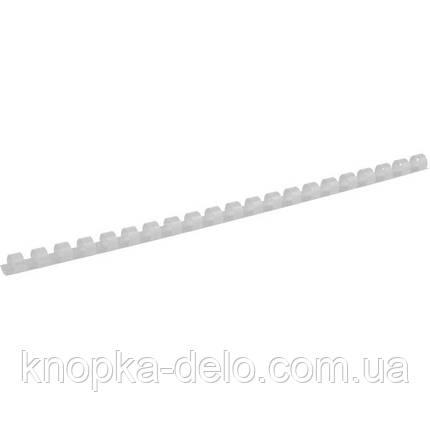 Пружина пластиковая Axent 2910-21-A 10 мм, белая, 100 штук, фото 2