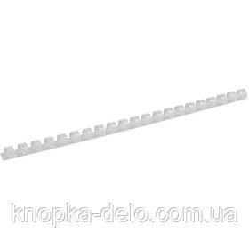 Пружина пластиковая Axent 2912-21-A 12 мм, белая, 100 штук