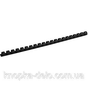 Пружина пластиковая Axent 2912-01-A 12 мм, черная, 100 штук