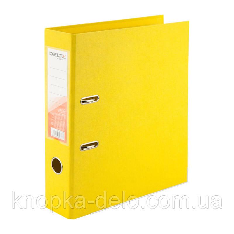Папка-реєстратор Delta D1712-08P двостороння, PP, 7.5 см, розібрана, жовтий