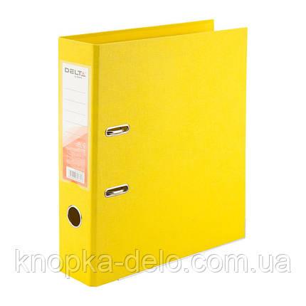 Папка-реєстратор Delta D1712-08P двостороння, PP, 7.5 см, розібрана, жовтий, фото 2
