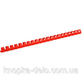 Пружина пластиковая Axent 2914-06-A 14 мм, красная, 100 штук