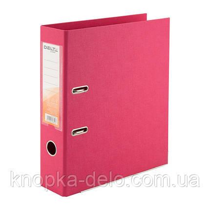 Папка-реєстратор Delta D1712-05C двостороння, PP, 7.5 см, зібрана, рожева, фото 2