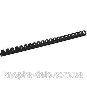 Пружина пластиковая Axent 2916-01-A 16 мм, черная, 100 штук