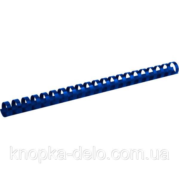 Пружина пластикова Axent 2919-02-A 19 мм, синя, 100 штук