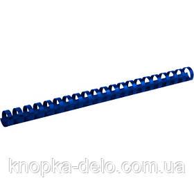 Пружина пластиковая Axent 2919-02-A 19 мм, синяя, 100 штук