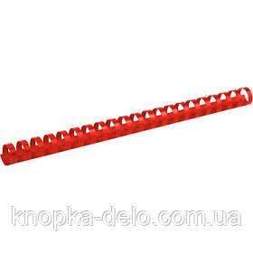 Пружина пластиковая Axent 2919-06-A 19 мм, красная, 100 штук