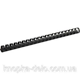 Пружина пластиковая Axent 2919-01-A 19 мм, черная, 100 штук