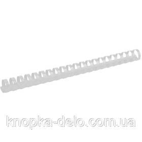 Пружина пластиковая Axent 2922-21-A 22 мм, белая, 50 штук
