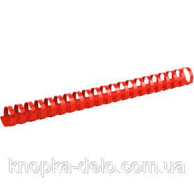 Пружина пластиковая Axent 2925-06-A 25 мм, красная, 50 штук