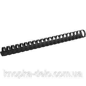 Пружина пластиковая Axent 2925-01-A 25 мм, черная, 50 штук