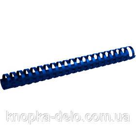 Пружина пластиковая Axent 2928-02-A 28 мм, синяя, 50 штук