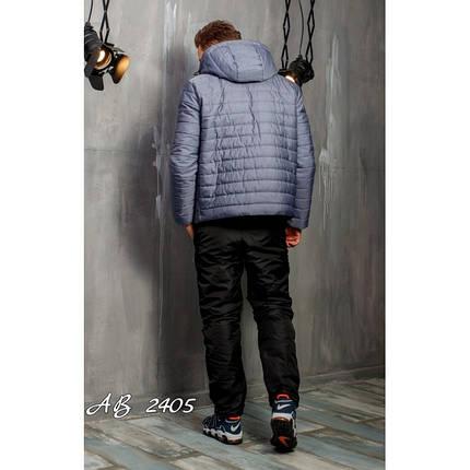 Мужской зимний костюм Nike серый на овчине топ реплика, фото 2