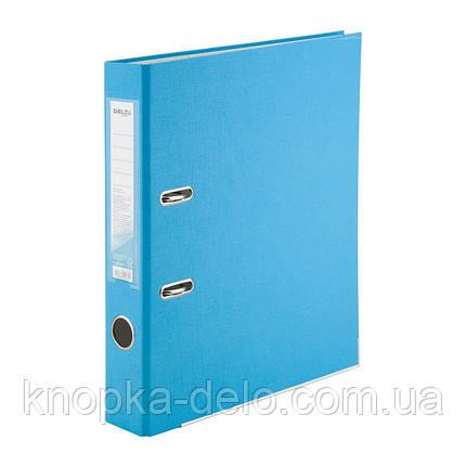 Папка-регистратор Delta D1713-29P односторонняя, PP, 5 см, разобранная, светло-голубая, фото 2