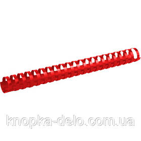 Пружина пластиковая Axent 2928-06-A 28 мм, красная, 50 штук