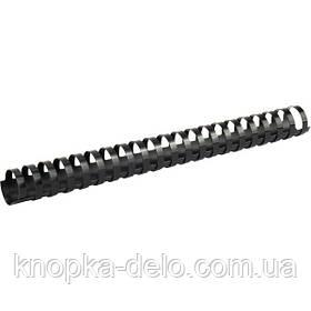 Пружина пластиковая Axent 2928-01-A 28 мм, черная, 50 штук