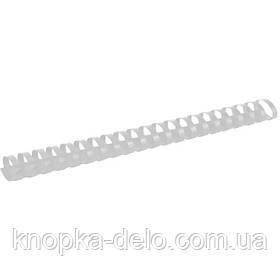 Пружина пластиковая Axent 2932-21-A 32 мм, белая, 50 штук
