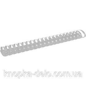 Пружина пластиковая Axent 2945-21-A 45 мм, белая, 50 штук