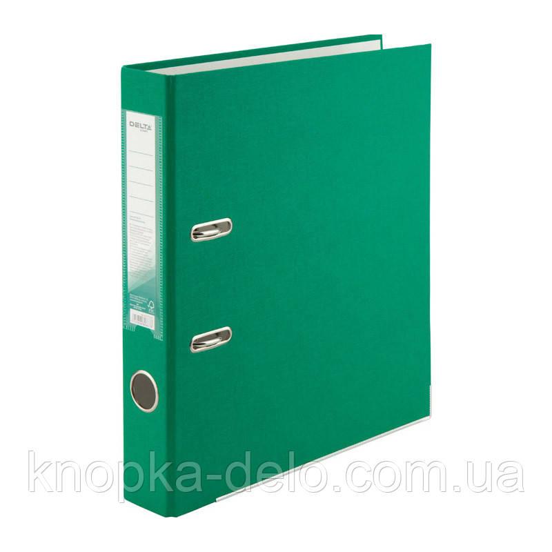 Папка-регистратор Delta D1713-04C односторонняя, PP, 5 см, собранная, зеленая