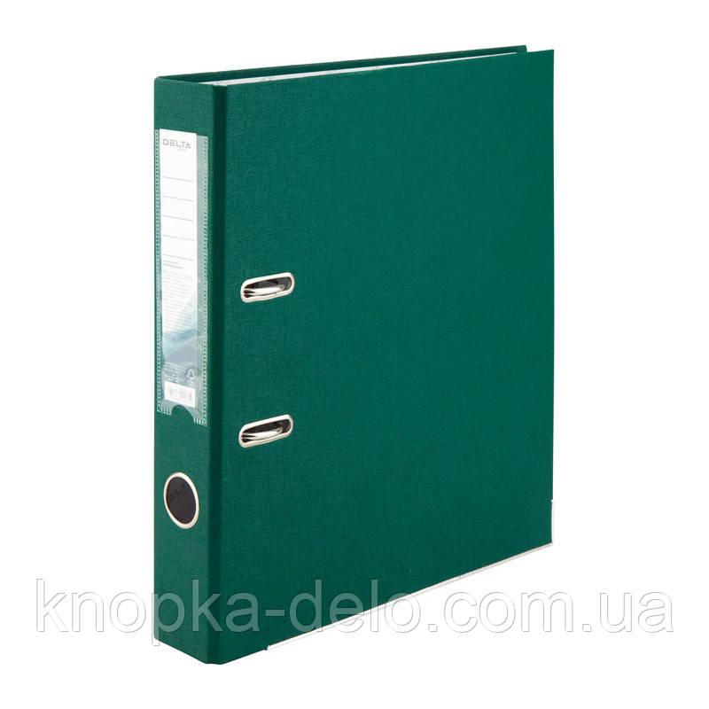 Папка-регистратор Delta D1713-23C односторонняя, PP, 5 см, собранная, темно-зелёная