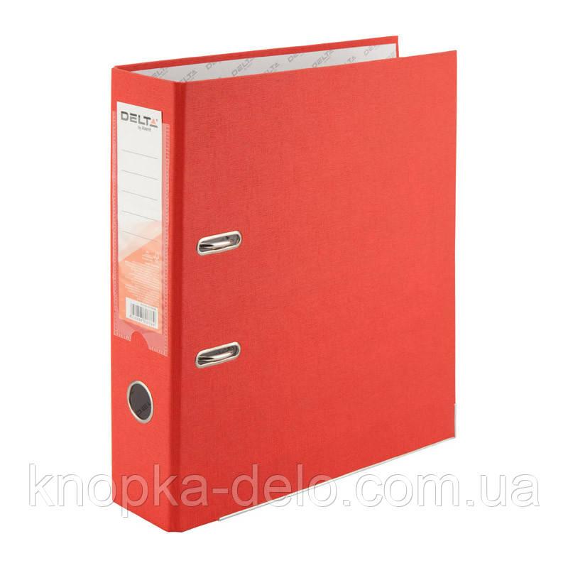 Папка-регистратор Delta D1714-06P односторонняя, PP, 7.5 см, разобранная, красная