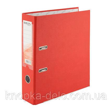 Папка-регистратор Delta D1714-06P односторонняя, PP, 7.5 см, разобранная, красная, фото 2
