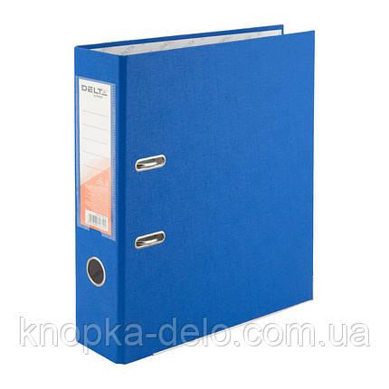 Папка-реєстратор Delta D1714-07P одностороння, PP, 7.5 см, розібрана, блакитна, фото 2