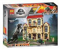 Конструктор Bela 10928 Нападение Индораптора в Локвуде. Мир Юрского периода (аналог Lego Jurassic World 75930)